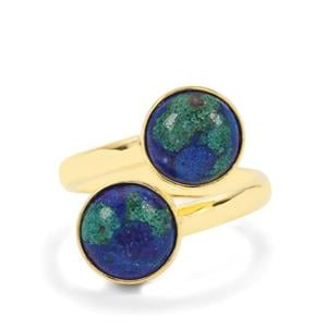 Azure Malachite Ring in Gold Plated Sterling Silver 5.58cts