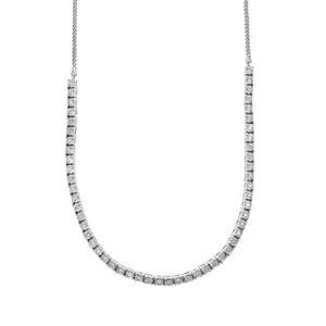 1/2ct Diamond Sterling Silver Halo Diamonds Necklace
