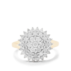 Diamond Ring in 9K Gold 1.04cts