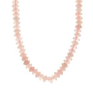 200.94ct Rose Quartz Sterling Silver Slider Necklace