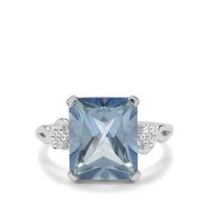 Santa Maria Topaz Ring with White Topaz in Sterling Silver 7.35cts