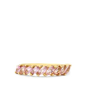 0.84ct Imperial Pink Topaz 9K Gold Ring