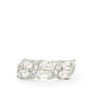 Zambezia Morganite & White Topaz Sterling Silver Ring ATGW 1.25cts