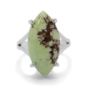 12.50ct Queensland Chrysoprase Sterling Silver Aryonna Ring