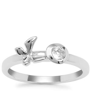 White Topaz Ring in Sterling Silver 0.20ct