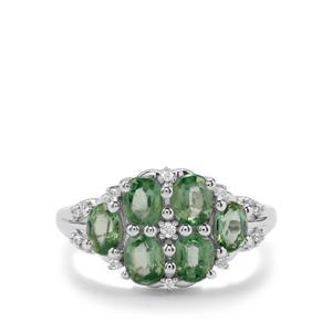 Mint Kyanite & White Topaz Sterling Silver Ring ATGW 2.71cts