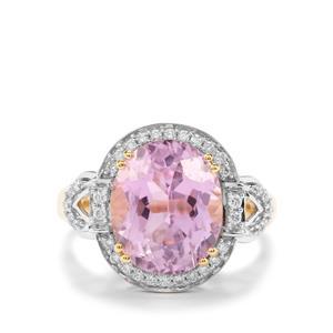 Mawi Kunzite & Diamond 18K Gold Lorique Ring MTGW 6.53cts