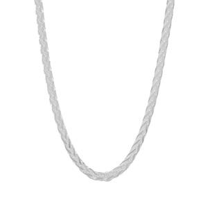 """18"""" Sterling Silver Dettaglio Spiga Chain 3.94g"""