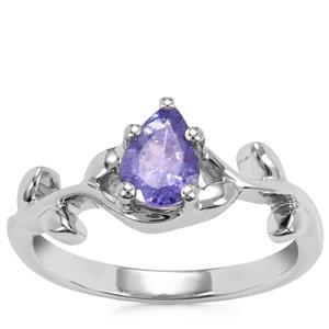 Tanzanite Ring in Sterling Silver 0.74ct