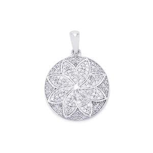 1.40ct Diamond Sterling Silver Pendant