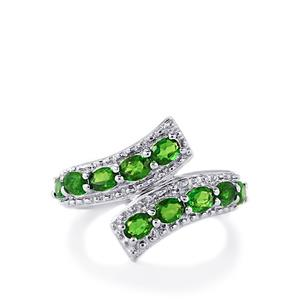 1.84ct Chrome Diopside Sterling Silver Ring