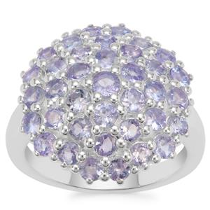 Tanzanite Ring in Sterling Silver 2.75cts