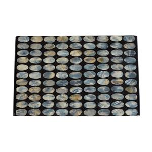 Mother of Collection - Black Display Tray with Grey Mother of Pearl Inlay