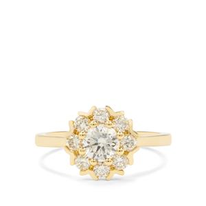 1ct Yellow Diamond 18K Gold Tomas Rae Ring