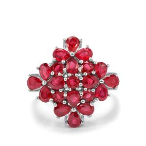 4.40ct Malagasy Ruby Sterling Silver Ring (F)