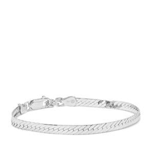 "7"" Sterling Silver Altro Diamond Cut Herringbone Bracelet 5.95g"