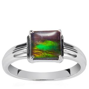 AA Ammolite Ring in Sterling Silver (8mm)