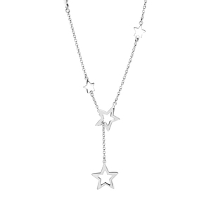 """19"""" Sterling Silver Altro Star Drop Necklace 5.75g"""