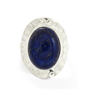 11.02ct Sar-i-Sang Lapis Lazuli Sterling Silver Aryonna Ring