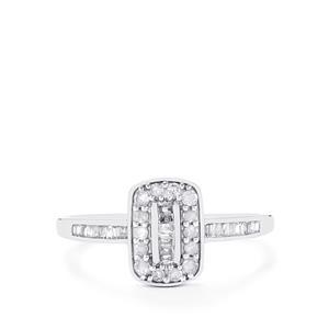 Diamond Ring in 10k White Gold 0.26ct