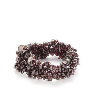 Rhodolite Garnet Nugget Stretchable Bracelet 352.50cts