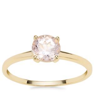 Alto Ligonha Morganite Ring in 9K Gold 0.70ct