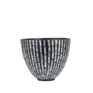 Mother of Pearl Collection - Black Deep Bowl with Grey Mother of Pearl Inlay