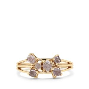 Purple Diamond Ring in 18K Gold 0.72ct