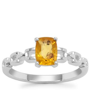 Burmese Amber Ring in Sterling Silver 0.32ct