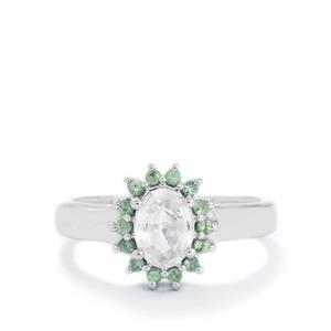 Singida Tanzanian Zircon & Orissa Alexandrite Sterling Silver Ring ATGW 1.46cts