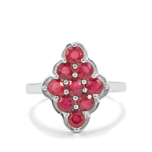 2.13ct Malagasy Ruby Sterling Silver Ring (F)