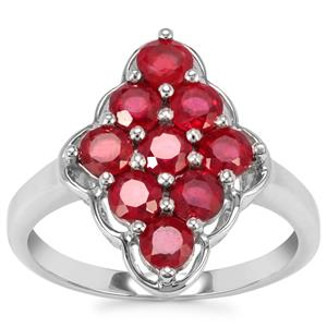Malagasy Ruby Ring in Sterling Silver 2.13cts (F)