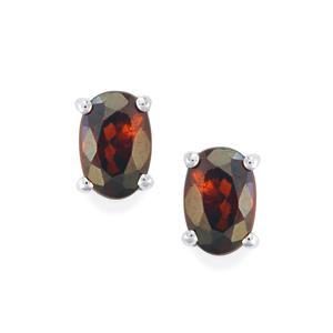 Cinnamon Zircon Earrings in Sterling Silver 1.58cts