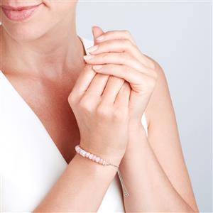 Peruvian Opal Graduated Bead Slider Bracelet in Sterling Silver 16cts