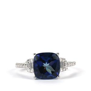3.82ct Royal Blue Topaz Sterling Silver Ring