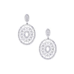 Diamond Earrings in Sterling Silver 1.75cts