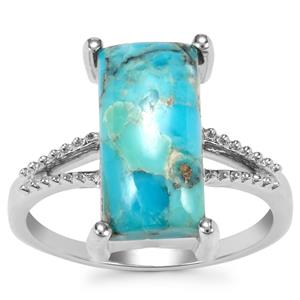 Bonita Blue Turquoise Ring in Sterling Silver 4.23cts