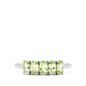 1.04ct Merelani Mint Garnet 9K White Gold Ring