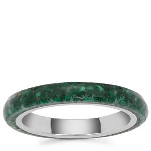 Malachite Ring in Sterling Silver 4cts