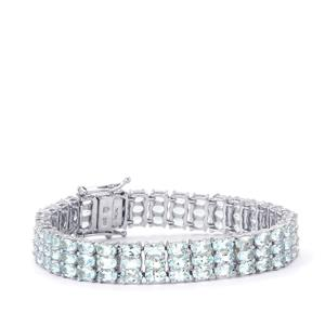 22.44ct Pedra Azul Aquamarine Sterling Silver Bracelet
