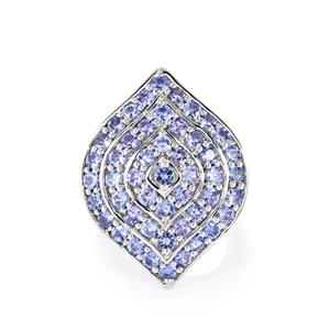 4.38ct AA Tanzanite Sterling Silver Ring