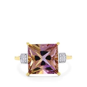 Anahi Ametrine Ring with Diamond in 10k Gold 4.70cts