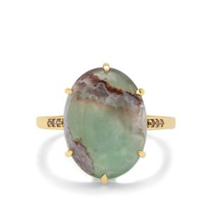 Aquaprase™ Ring with Champagne Diamond in 9K Gold 7.05cts