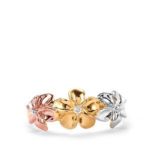 Diamond Three Tone Midas Ring