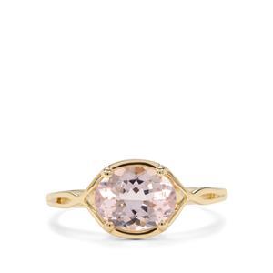 1.70ct Nigerian Morganite 9K Gold Ring
