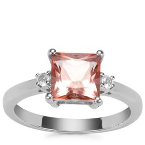 Galileia Topaz Ring with White Topaz in Sterling Silver 2.20cts