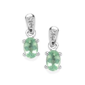 Odisha Kyanite & White Topaz Sterling Silver Earrings ATGW 1.35cts