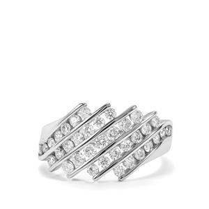 1ct Diamond 18K White Gold Ring