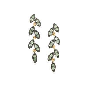 0.79ct Alexandrite 9K Gold Earrings