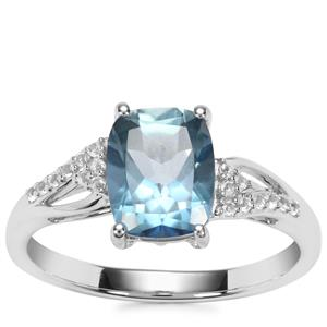 Santa Maria Topaz Ring with White Topaz in Sterling Silver 2.60cts